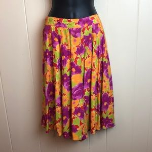3/$27 Talbots Long Pleated Floral Shorts